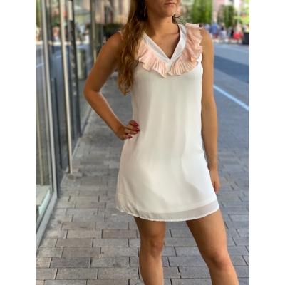 Lovely white dress.