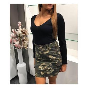 Camo skirt.