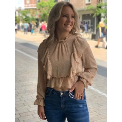 Beige dot blouse