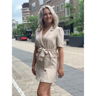 Blazer dress beige
