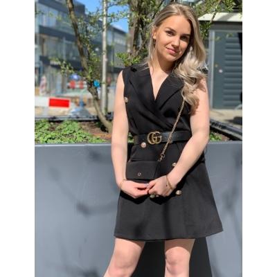 Black gilet/dress + bijpassend tasje