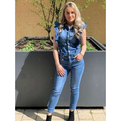 Denim jumpsuit long