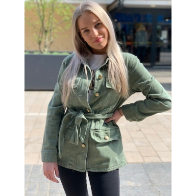 Jacket army green with gold detail
