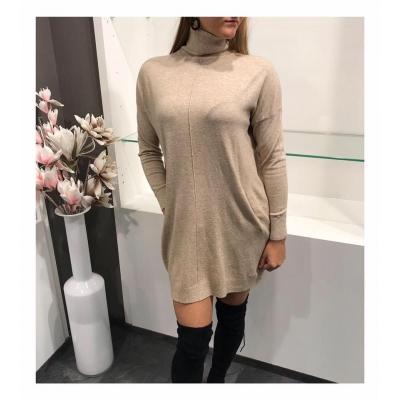 Oversized sweater-dress.
