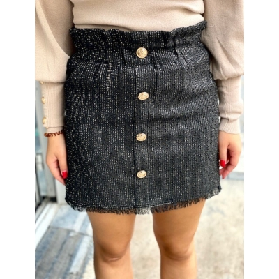 Skirt black with gold details