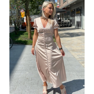 Glamour dress beige